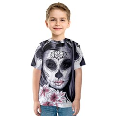 Day Of The Dead Kids  Sport Mesh Tee