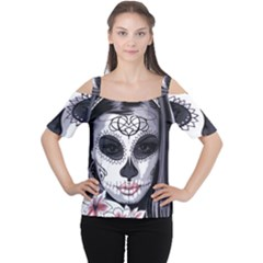 Day Of The Dead Cutout Shoulder Tee