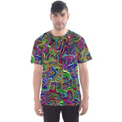 Artwork By Patrick Colorful 9 Men s Sports Mesh Tee