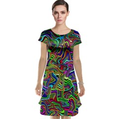 Artwork By Patrick Colorful 9 Cap Sleeve Nightdress