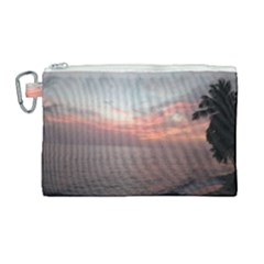 Red Sunset Rincon Puerto Rico Canvas Cosmetic Bag (large)