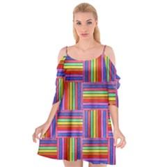 Artwork By Patrick Squares Cutout Spaghetti Strap Chiffon Dress