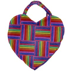 Artwork By Patrick Squares Giant Heart Shaped Tote