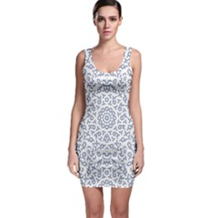 Radial Mandala Ornate Pattern Bodycon Dress
