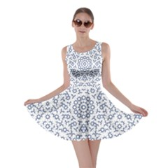 Radial Mandala Ornate Pattern Skater Dress