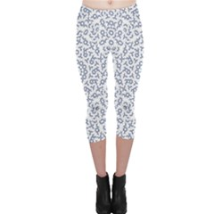 Radial Mandala Ornate Pattern Capri Leggings