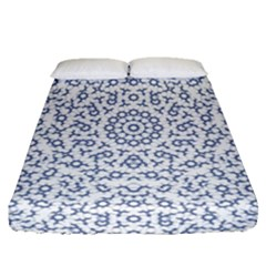 Radial Mandala Ornate Pattern Fitted Sheet (queen Size)