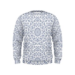 Radial Mandala Ornate Pattern Kids  Sweatshirt