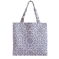 Radial Mandala Ornate Pattern Zipper Grocery Tote Bag