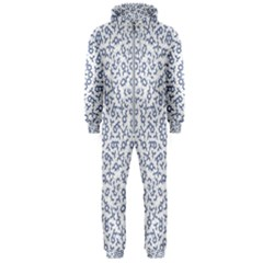 Radial Mandala Ornate Pattern Hooded Jumpsuit (men)
