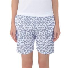 Radial Mandala Ornate Pattern Women s Basketball Shorts