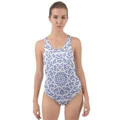 Radial Mandala Ornate Pattern Cut Out Back One Piece Swimsuit