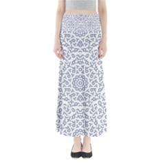 Radial Mandala Ornate Pattern Full Length Maxi Skirt