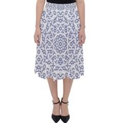 Radial Mandala Ornate Pattern Folding Skater Skirt
