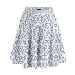 Radial Mandala Ornate Pattern High Waist Skirt