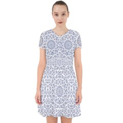 Radial Mandala Ornate Pattern Adorable In Chiffon Dress