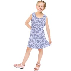 Radial Mandala Ornate Pattern Kids  Tunic Dress