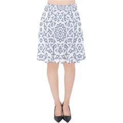 Radial Mandala Ornate Pattern Velvet High Waist Skirt