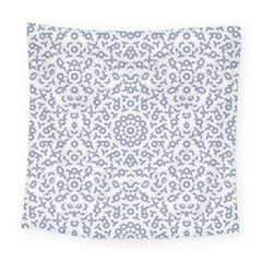 Radial Mandala Ornate Pattern Square Tapestry (large)