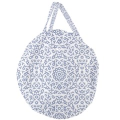 Radial Mandala Ornate Pattern Giant Round Zipper Tote
