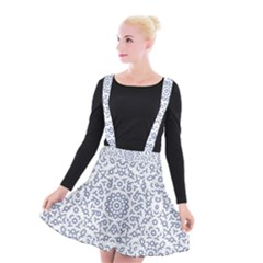 Radial Mandala Ornate Pattern Suspender Skater Skirt
