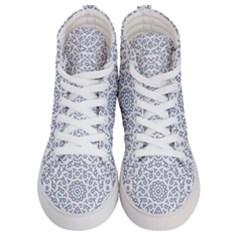 Radial Mandala Ornate Pattern Men s Hi Top Skate Sneakers