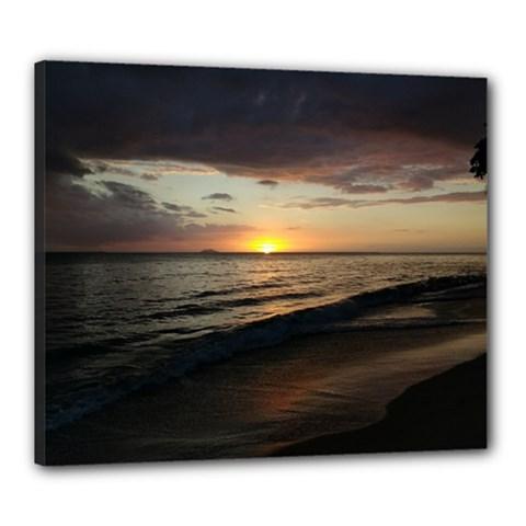 Sunset On Rincon Puerto Rico Canvas 24  X 20
