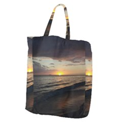 Sunset On Rincon Puerto Rico Giant Grocery Zipper Tote