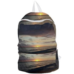 Sunset On Rincon Puerto Rico Foldable Lightweight Backpack