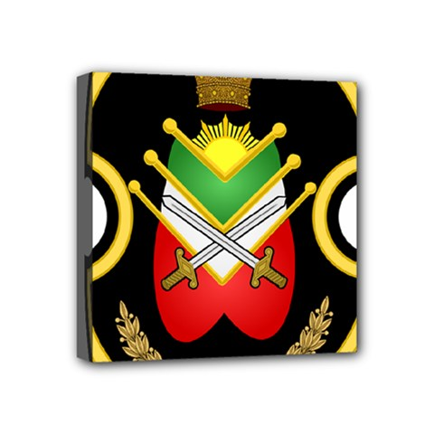 Shield Of The Imperial Iranian Ground Force Mini Canvas 4  X 4