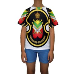 Shield Of The Imperial Iranian Ground Force Kids  Short Sleeve Swimwear
