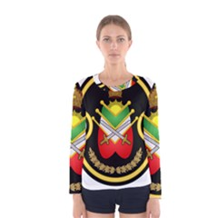 Shield Of The Imperial Iranian Ground Force Women s Long Sleeve Tee