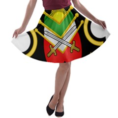 Shield Of The Imperial Iranian Ground Force A Line Skater Skirt