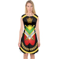 Shield Of The Imperial Iranian Ground Force Capsleeve Midi Dress