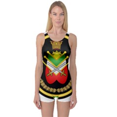 Shield Of The Imperial Iranian Ground Force One Piece Boyleg Swimsuit