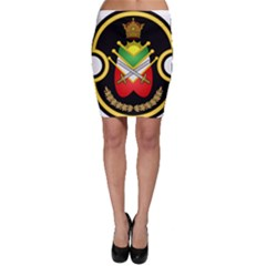 Shield Of The Imperial Iranian Ground Force Bodycon Skirt