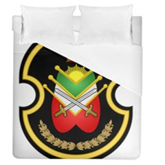 Shield Of The Imperial Iranian Ground Force Duvet Cover (queen Size)