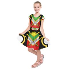Shield Of The Imperial Iranian Ground Force Kids  Short Sleeve Dress