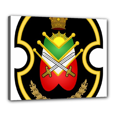 Shield Of The Imperial Iranian Ground Force Canvas 20  X 16