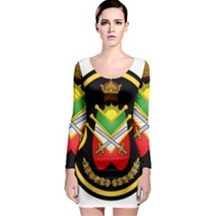 Shield Of The Imperial Iranian Ground Force Long Sleeve Bodycon Dress