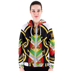 Shield Of The Imperial Iranian Ground Force Women s Zipper Hoodie