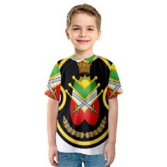 Shield Of The Imperial Iranian Ground Force Kids  Sport Mesh Tee