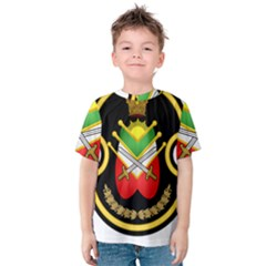 Shield Of The Imperial Iranian Ground Force Kids  Cotton Tee