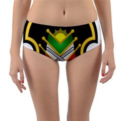 Shield Of The Imperial Iranian Ground Force Reversible Mid Waist Bikini Bottoms