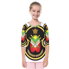 Shield Of The Imperial Iranian Ground Force Kids  Quarter Sleeve Raglan Tee