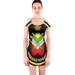 Shield Of The Imperial Iranian Ground Force Short Sleeve Bodycon Dress