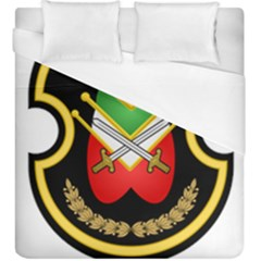 Shield Of The Imperial Iranian Ground Force Duvet Cover (king Size)