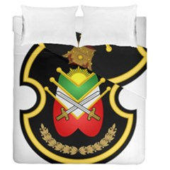 Shield Of The Imperial Iranian Ground Force Duvet Cover Double Side (queen Size)