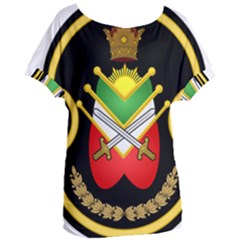 Shield Of The Imperial Iranian Ground Force Women s Oversized Tee