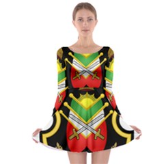 Shield Of The Imperial Iranian Ground Force Long Sleeve Skater Dress